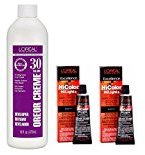 L'Oreal Hicolor HiLights for Dark Hair Only Magenta 2-Pack with 16 oz. Oreor Crème 30 Developer - COMBO DEAL