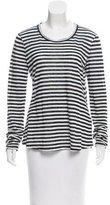 A.L.C. Striped Linen Top