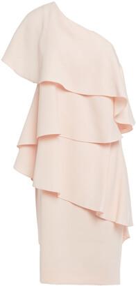 Lanvin One-shoulder Tiered Jersey Mini Dress