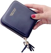 Amarte Women's Leather Zip-around Wallets for Coins ID Cards Bifold