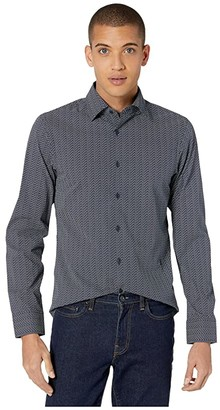 G Star G-Star Core Super Slim Shirt Long Sleeve (Sartho Blue/Milk) Men's Clothing