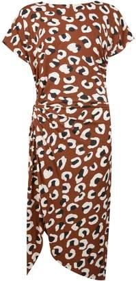 Dorothy Perkins Womens **Tall Brown Leopard Print Oversized Shift Dress, Brown