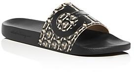 Salvatore Ferragamo Men's Groove 6 Gancini Slide Sandals