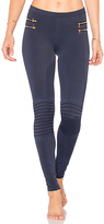 Blue Life Fit Zipper Moto Legging in Navy. - size L (also in S,XS)