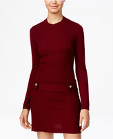 Amy Byer Juniors' Embellished Cable-Knit Sweater Dress