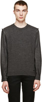 DSQUARED2 Charcoal Hybrid Sweater