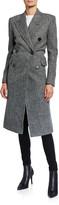 Saint Laurent Chevron Wool Overcoat