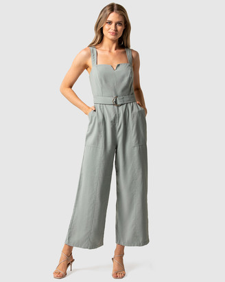 Forever New Aurora Wide Leg Belted Jumpsuit