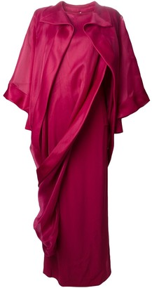 Givenchy Pre Owned Ruffled Asymmetric Chiffon Gown