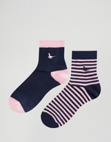 Jack Wills 2 Pack Ankle Socks