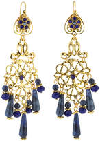Jose & Maria Barrera Sodalite & Crystal Chandelier Earrings