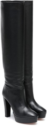Aquazzura Chambord leather knee-high boots