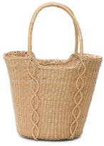 Made In Italy Diamond Motif Basket Tote