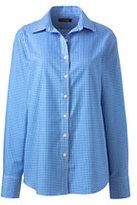 Lands' End Women's Petite Traditional No Iron Dress Shirt-Whispering Pink Stripe