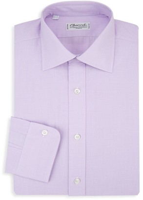 Charvet Barre Striped Cotton Dress Shirt
