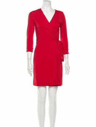 Diane von Furstenberg V-Neck Mini Dress w/ Tags Red