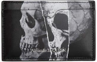 Alexander McQueen Black Torn Skull Card Holder