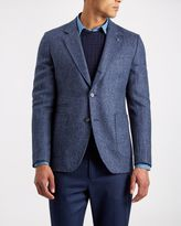 Wool Herringbone Slim Jacket