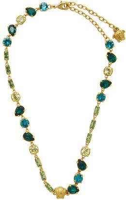 Versace Gold Crystal Medusa Mini Necklace