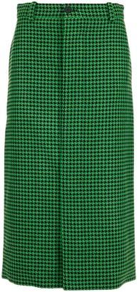 Balenciaga Houndstooth Coat Skirt