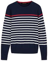 Jaeger Breton Stripe Sweatshirt, Navy
