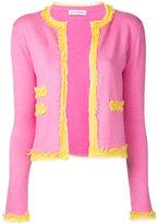 Altuzarra fringe trim cardigan - women - Silk/Spandex/Elastane/Cashmere - XS