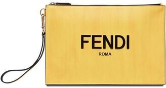 Fendi Logo Print Clutch Bag