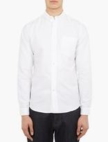 Ami White Cotton Oxford Shirt