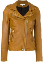 IRO leather biker jacket - women - Lamb Skin/Polyester/Rayon - 36