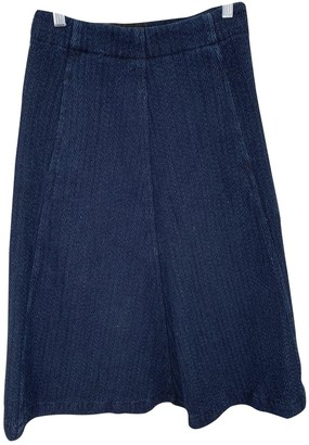 Masscob Blue Cotton Skirt for Women