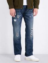 True Religion Ricky distressed relaxed-fit straight-leg denim jeans