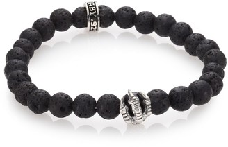 King Baby Studio Lava Rock & Onyx Beaded Bracelet