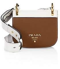 Prada Women's Pionnià ̈re Leather Saddle Bag