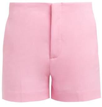 Joseph Kirk Cotton Blend Tailored Shorts - Womens - Pink