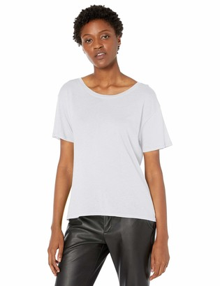 Enza Costa Women's Tissue Cotton Short Sleeve Boy Tee