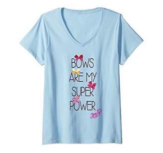 Nickelodeon Womens JoJo Siwa Bows Are My Super Power V-Neck T-Shirt