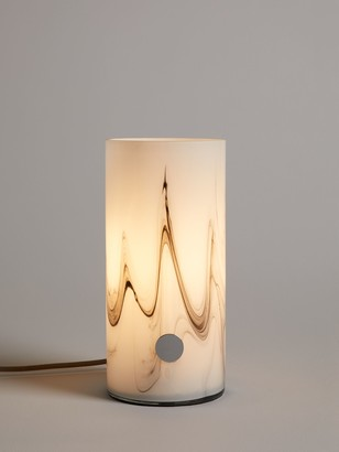 John Lewis & Partners Ada Marble Touch Lamp, White/Grey