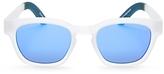 Toms Traveler Bowery Mirrored Wayfarer Square Sunglasses, 51mm