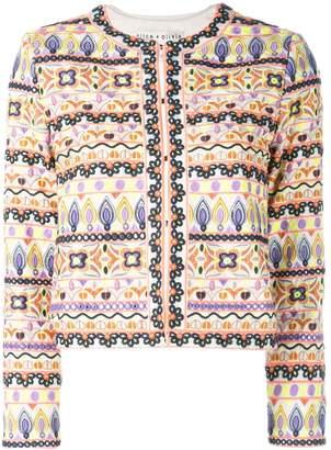 Alice + Olivia Alice+Olivia Kidmand embroidered box jacket