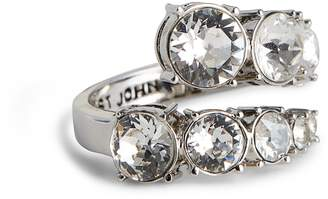 St. John Degrade Swarovski Crystal Open Ring