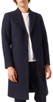 Jigsaw Boiled Wool Longline Overcoat, Navy