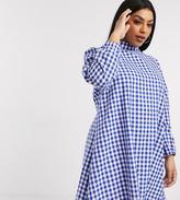 Daisy Street Plus high neck mini smock dress in gingham