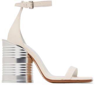MM6 MAISON MARGIELA White Can Heel Sandals