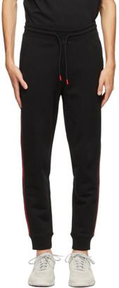 HUGO BOSS Black and Red Stripe Logo Sweatpants