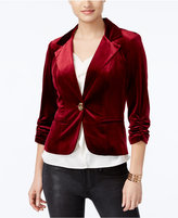 XOXO Juniors' Velvet Ruched Blazer