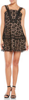 Lucy Paris Lace Apron Dress with Contrast Lining