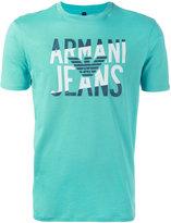 Armani Jeans logo print T-shirt - men - Cotton - S