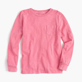 J.Crew Kids' long-sleeve garment-dyed T-shirt
