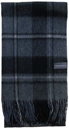 The Tartan Blanket Co. Lambswool Oversized Scarf In Macrae Grey Tartan