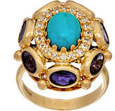 Arte d'Oro Oval Gemstone Ring 18K Gold